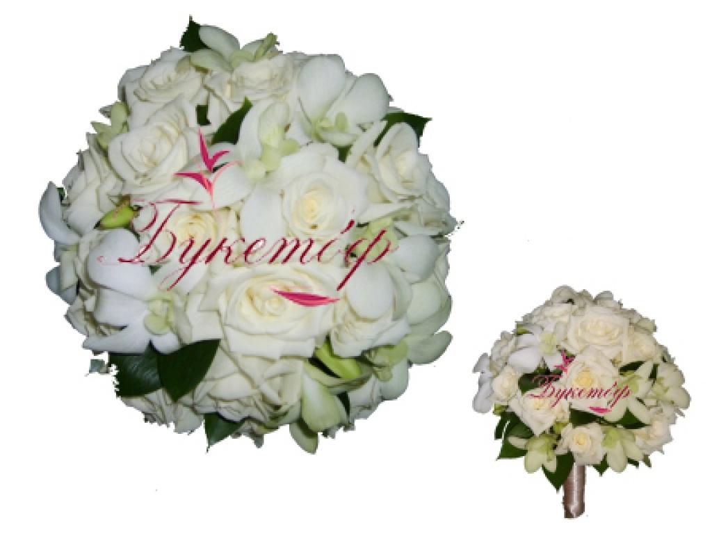 Белое серебристый букет невесты, доставка живых цветов оптом в воронеже