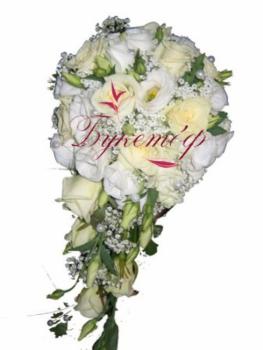 Букет невесты каплевидный Ассоль.