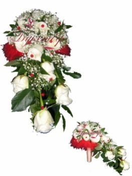 Букет невесты каплевидный Веселый переполох.