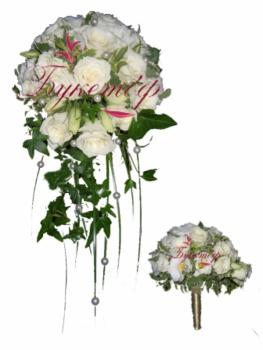 Букет невесты каплевидный Капли росы.